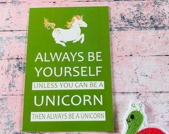 Unicorn Postcard 260gsm