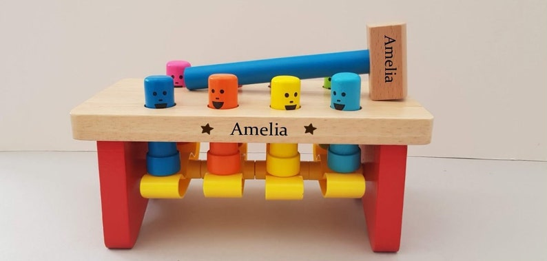 Boy Christmas Toy.Wooden Pounding Bench 1st Birthday Toddler Toy Wooden Toys Christmas Toys Gifts For Girls Gifts For Boys