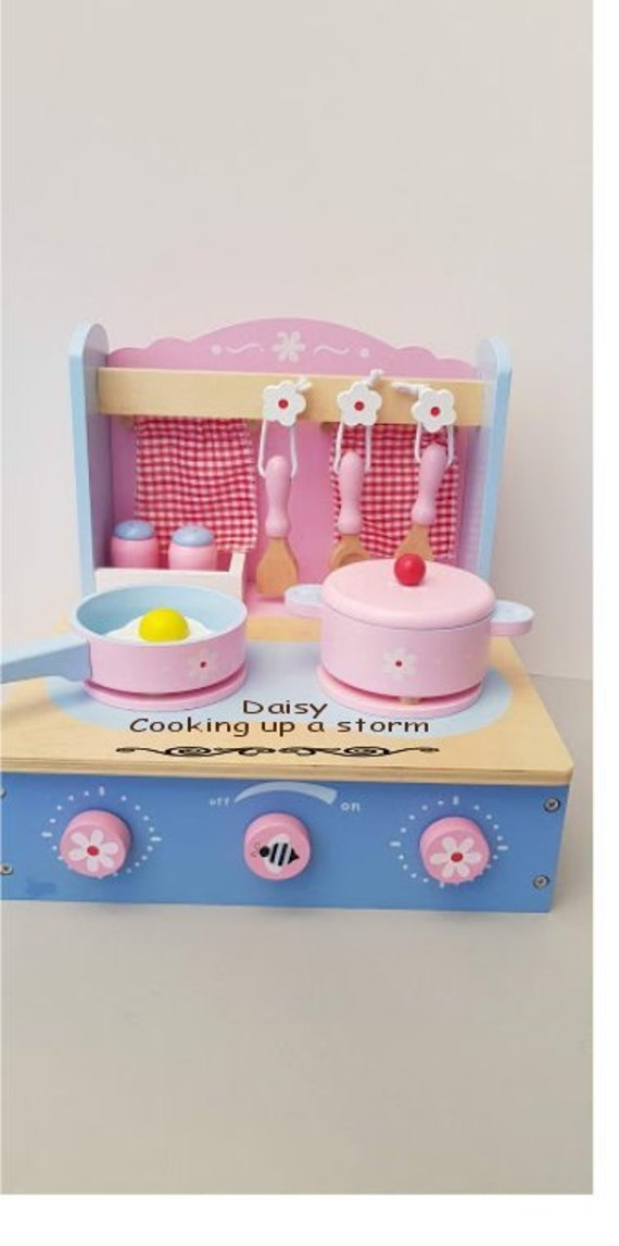Personalised Mini Kitchen Playset Wooden Toy Birthday Etsy
