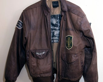 Vintage War Correspondant Leather Jacket