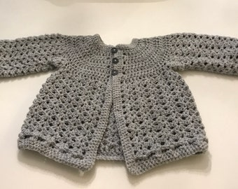 Crocheted Baby Cardigan 6-12 months
