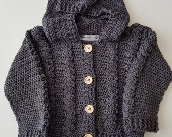 Crocheted Baby Cardigan 6-12 months.