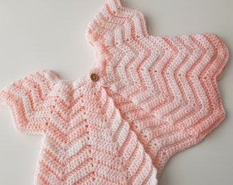 Crocheted Baby Cardigan 0-6 months