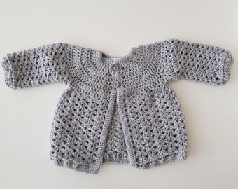 Crocheted Baby Cardigan 0-4 months
