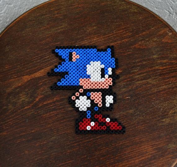 Sonic The Hedgehog En Perles Hama In Hama Beads Etsy