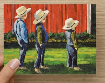 """Blank Note Card """"The Stoltfus Three"""""""