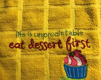 Funny Kitchen hand Towel Embroidered