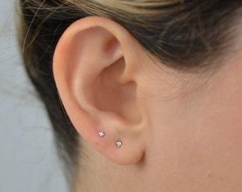 b9338ba863f32 Tiny diamond earring | Etsy