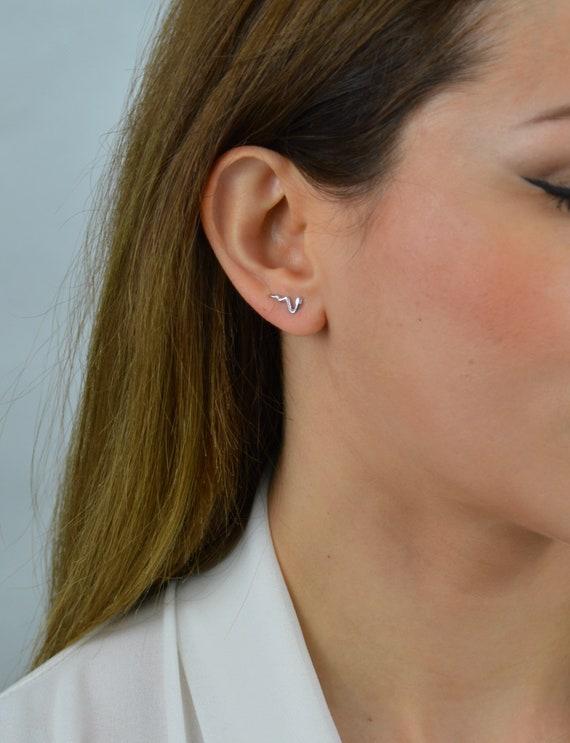 Snake Stud Earrings Snake Jewelry Gold Snake Earrings Snake Earring Baby Snake Earrings Snake Studs Snake Earrings Stud Earrings