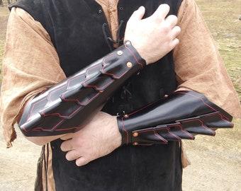 Black Leather Warlock Bracers