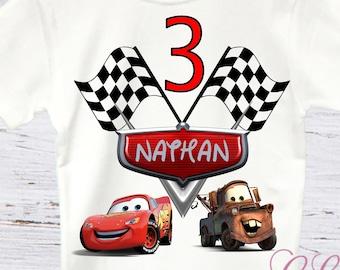 Cars birthday shirt, mater birthday shirt, lighting McQueen birthday, cars birthday