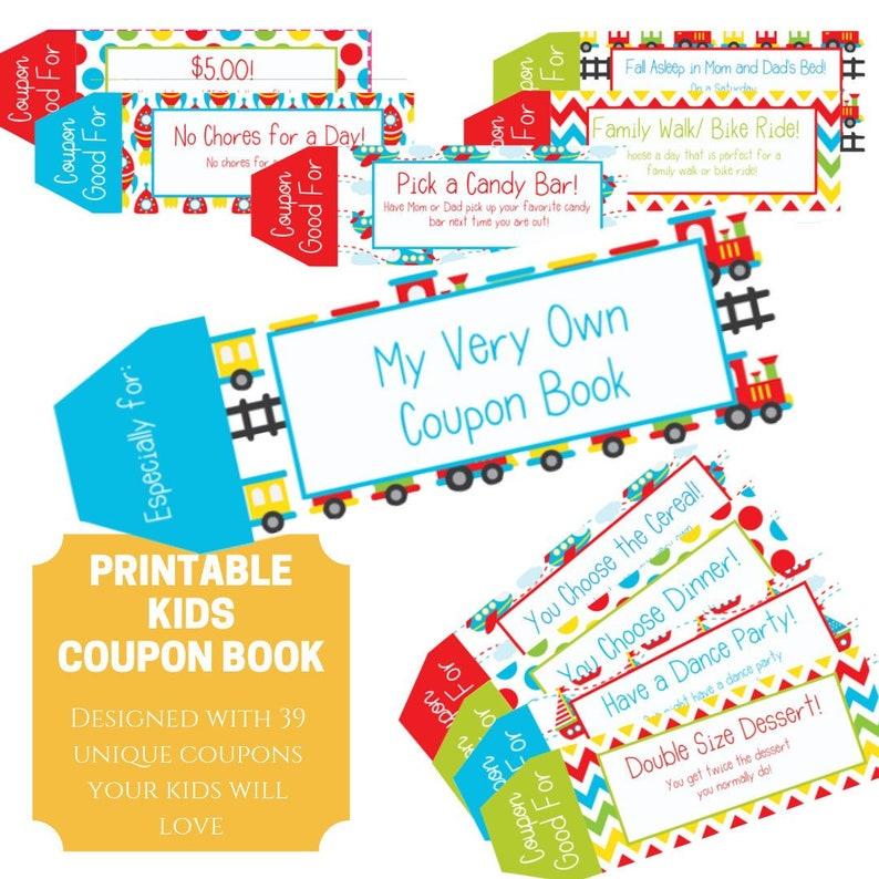 photo about Printable Candy Coupons referred to as Small children Coupon guide, 39 Printable Coupon codes for youngsters, Presents for youngsters, Items for boys, Stocking Stuffers, Previous Moment Reward for young children, Electronic