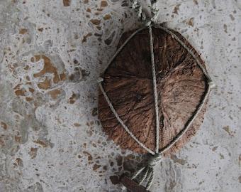 Coconut Hemp Macrame Necklace
