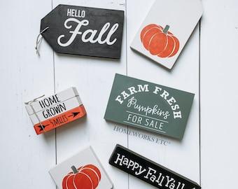 Fall Themed Tiered Tray decor | DIY Kit - Fall DIY Kit - Fall Gifts - Home Decor