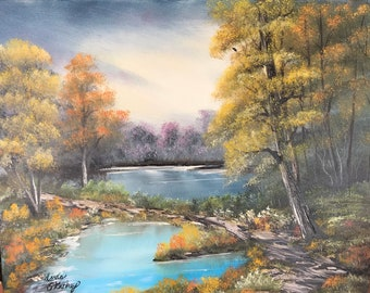 Wooded Landscape, Oil Painting, Canvas