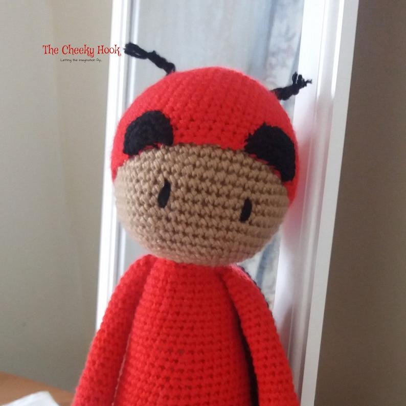 Amigurumi doll in ladybug costume | Crochet doll pattern, Crochet ... | 794x794