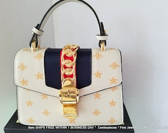 a821e001cd68 GUCCI Sylvie Bee Star Mini Leather Bag with Bag and Box ITALY 2,600
