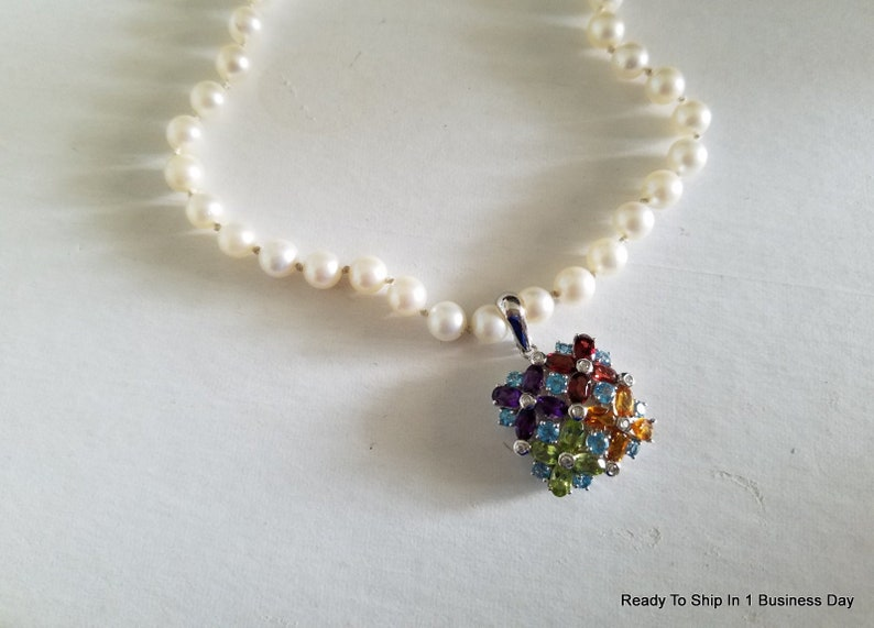 Jewelry & Watches Multigem Earrings Ring Set Peridot Amethyst Diamond Aqua Citrine 14k Rose Gold