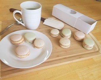 Assorted Spring Flavors, Vegan and Gluten Free Macarons (12)