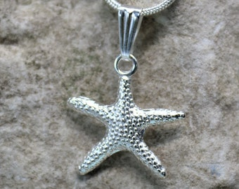 Starfish Charm Necklace, Ocean Scuba Diver Jewelry, Sealife Pendant, Gift for Beach Lover, Unique Gift for Her or Him