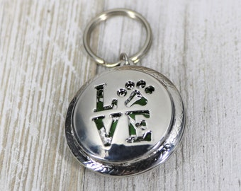 Love Paw 30 mm EO Pendant, Aromatherapy Locket, Hang Anywhere Diffuser, Essential Oils Jewelry, Gift for Her,