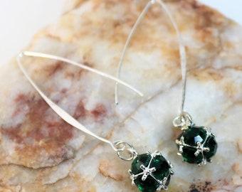 Wishbone Birthstone Earrings