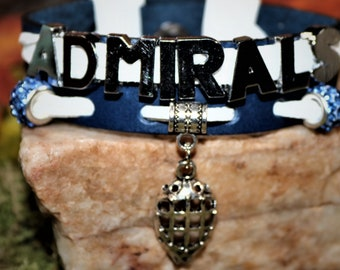 Milwaukee Admirals Leather Charm Bracelet