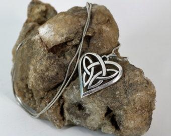 Celtic Infinity Heart Pendant Necklace