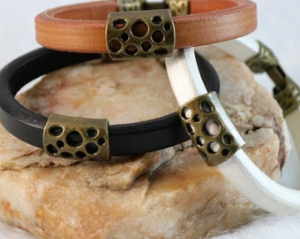 Licorice Leather Bracelet
