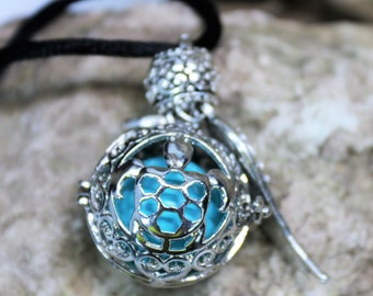 Angel Caller, Harmony Ball Sea Turtle Pendant, Pregnancy Necklace, Remembrance Keepsake, Maternity Baby Gift, Expecting Mom Gift for Her