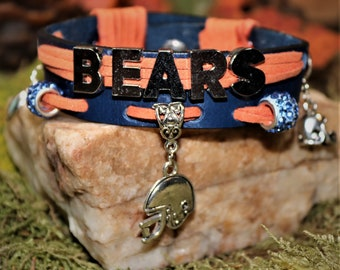 Chicago Bears Leather Charm Bracelet