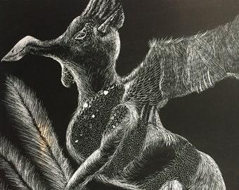 Dragon Scratch Art