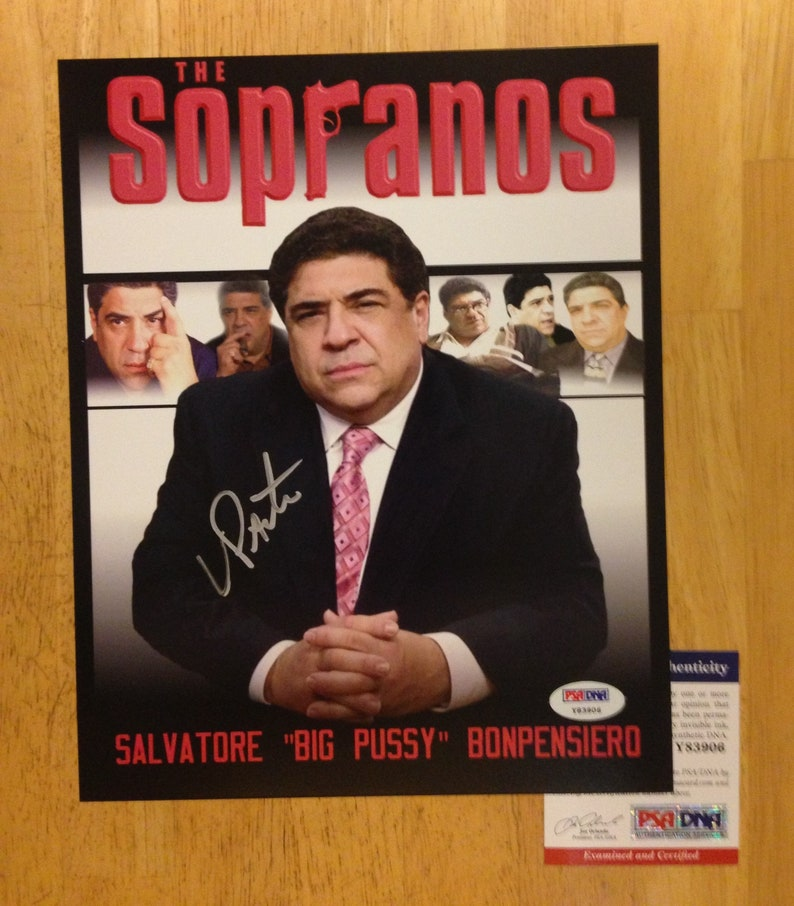 Sopranos Signed 8x10 photo of Vincent Pastore Big Pussy PSA DNA Actor
