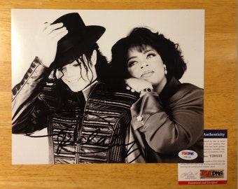 Signed OPRAH Winfrey with Michael Jackson 8x10 PSA DNA