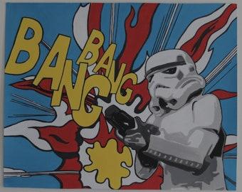 Star Wars Storm Trooper Pop Art