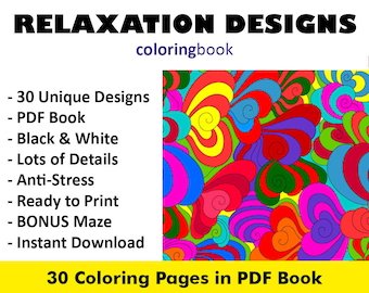 30 Relaxation Vol 1 Coloring Pages Books Adult For Adults