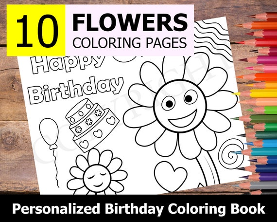 Personalized Happy Birthday Coloring Pages To Print   Birthday ...   456x570