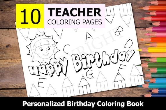 Birthday Coloring Pages | Birthday coloring pages, Happy birthday ... | 380x570