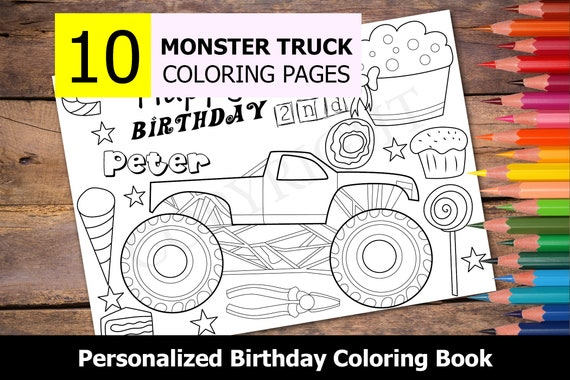 Free Printable Monster Truck Coloring Pages - Coloring Home | 380x570