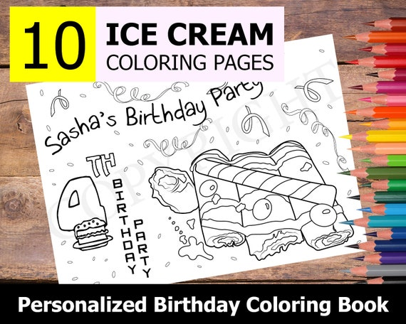 Personalized Happy Birthday Coloring Pages - Coloring Pages   456x570