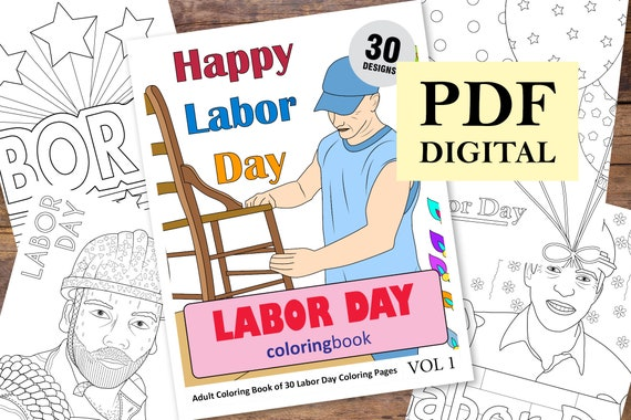 Labor Day Coloring Sheets - Coloring Home | 380x570