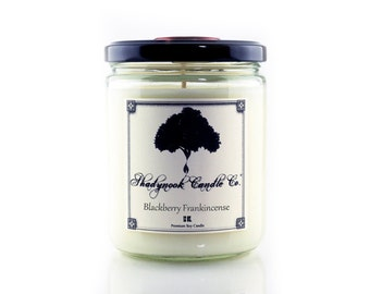 Blackberry Frankincense Premium Soy Candle