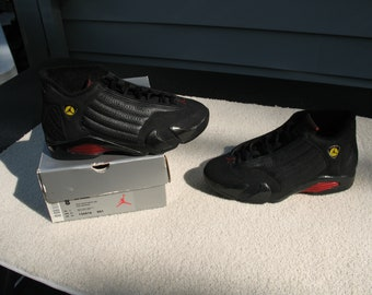 17478ca2bf9d Air Jordan 14 Original Final Last Shot 1998 Release Size 8  136916 001  Black Black Varsity Red