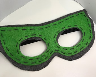 Superhero Mask - Customize and Personalize any colour - Grey/Green