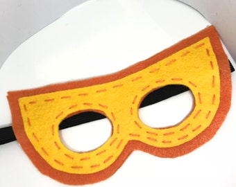 Superhero Mask - Customize and Personalize any colour - Orange/Yellow