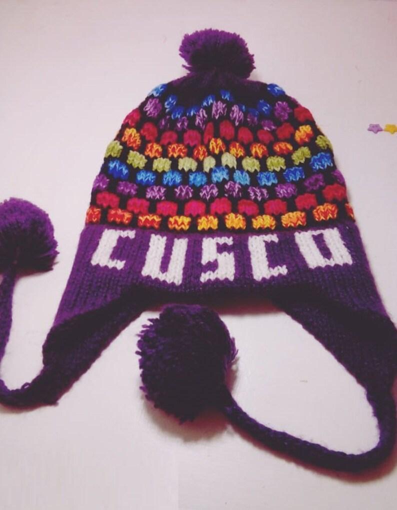 c48cea648c1 Alpaca wool hat Winter hat Inca hat Alpaca winter earflaps