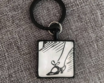 Dr.Seuss Cat in the Hat Mother key ring vintage 1960s children/'s book page nostalgia