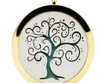 Tree of Life Aromatherapy Essential Oil Diffuser Pendant with Necklace.