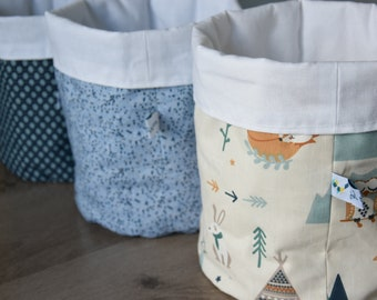 Baskets for changing table