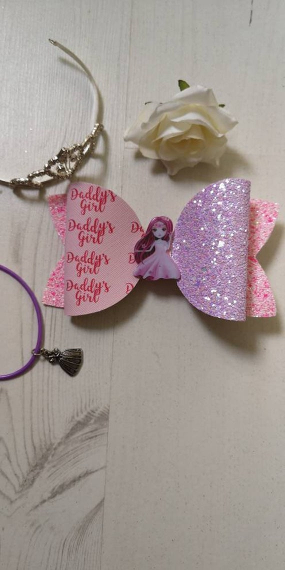 Present gift Present for girls Unique bow Glitter bow Little Mix Glitter Bow Glitter bow Birthday gift Hair accessory Unique bow
